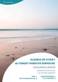 UBP -CES_ 2018.02.02. 3 e 4 Alegria de Viver I de Mingyur Rinpoche_Cartaz